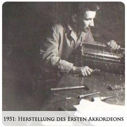 1951 Valentin Zupan - Herstellung des ersten Akkordeons