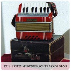 Valentin Zupan - 1951 Erstes selbstgemachtes Akkordeon