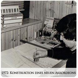 Valentin Zupan - 1972 Konstruktion eines neuen Akkordeons