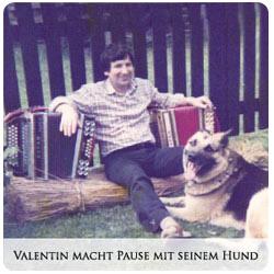 Valentin Zupan - Valentin macht Pause mit seinem Hund